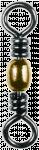 Émerillon baril avec anneau en acier inoxydable